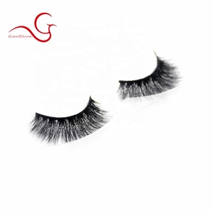 Hot sale excellent 100% mink fur cruelty free 3d mink lashes natural