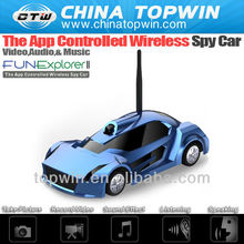 2013 newest ISO and android controlled wifi rc mini car with audio video music&camra[CTW-019II] China Topwin rc car bodies