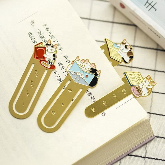 Personalized Laser Cutting Metal Bookmark Enamel Bookmark Metal Custom Bookmark