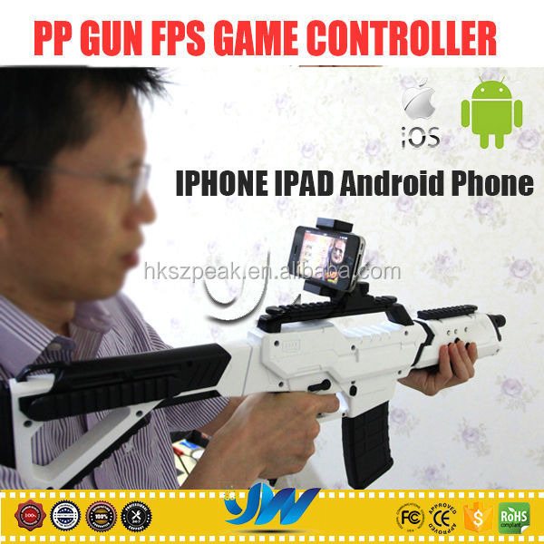 Crazy hot-sale bluetooth mobile gun controller for iOS, Android and Windows