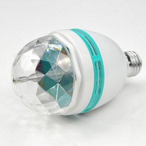 LED RGB disco party bulb full color rotating lamp RGB 3W 85V-265V