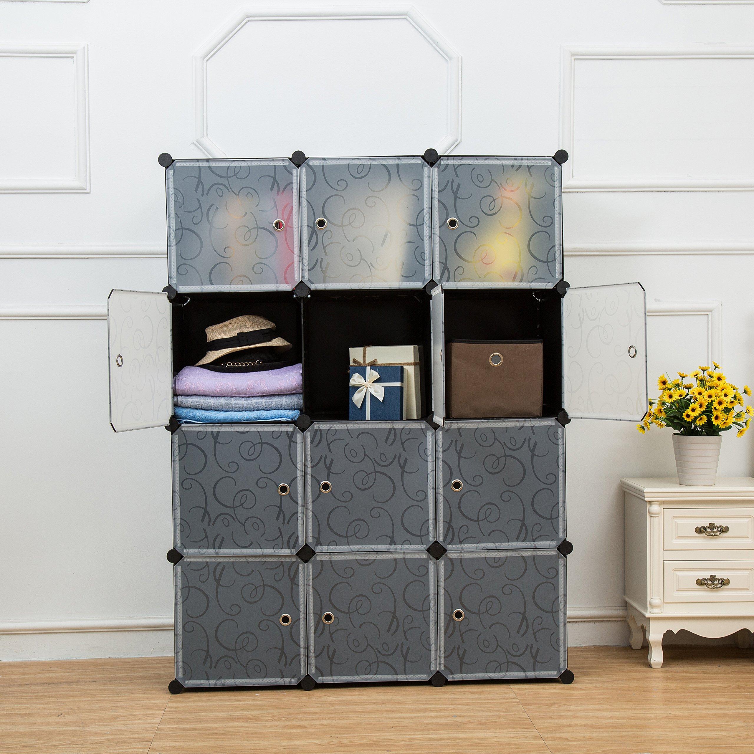Buy Unicoo Multi Use Diy Plastic 12 Cube Organizer