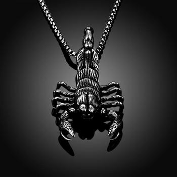 Tryme scorpion pendants necklaces 316l stainless steel anti allergy tryme scorpion pendants necklaces 316l stainless steel anti allergy figaro chain jewelry zodiac scorpio necklace gifts aloadofball Images