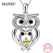 925 sterling silver owl mom pendant necklace JP22623-P