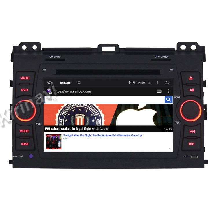 "Kirinavi WC-TP7027 7"" android 5.1 audio car system for <strong>toyota</strong> <strong>prado</strong> 2002-2009 car radio gps wifi 3g bt"