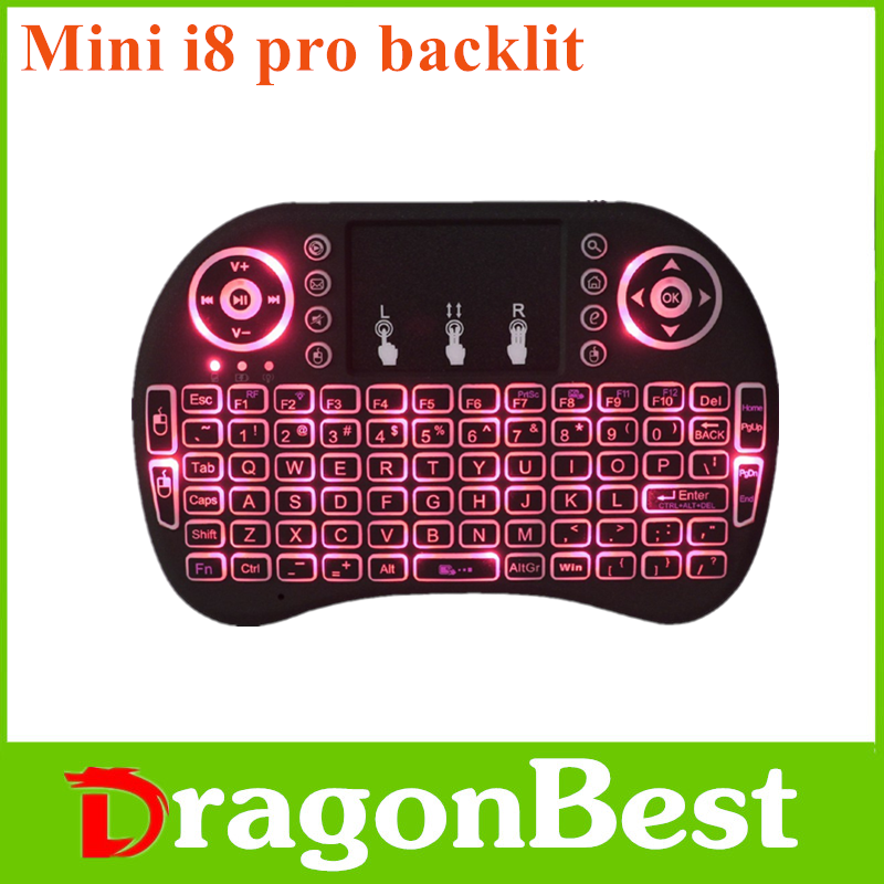 2017 New Mini i8 Pro air mouse backlit BT keyboard for 5 inch andriod tablet From China supplier