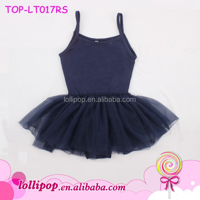 Children Training Stage Dance Wear Leotards plain girl frock toddler strap camisole baby kids tutu skirted leotard ballet