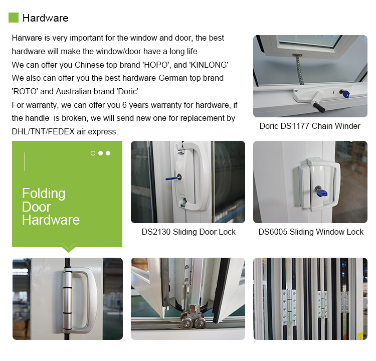 CE Patio Aluminum Insulated Alloy Folding Glass Partition Door