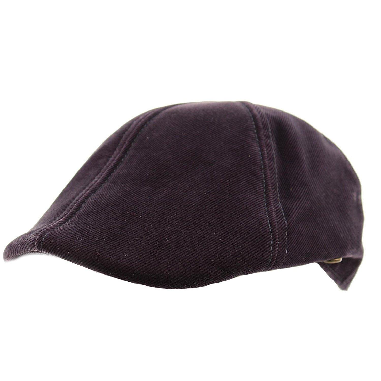 cf12650c570a5 Get Quotations · Men s Winter Fall Retro Soft Velvet duckbill IVY Driver  Cabbie Cap Hat