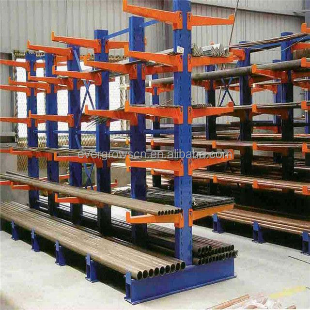 Heavy Duty Cantilever Rack For Lamp Post And Road Pole Out Door Warehouse Racking