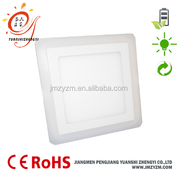 12w+4w Surface Mounted Double Color Square Led Panel Lights ...