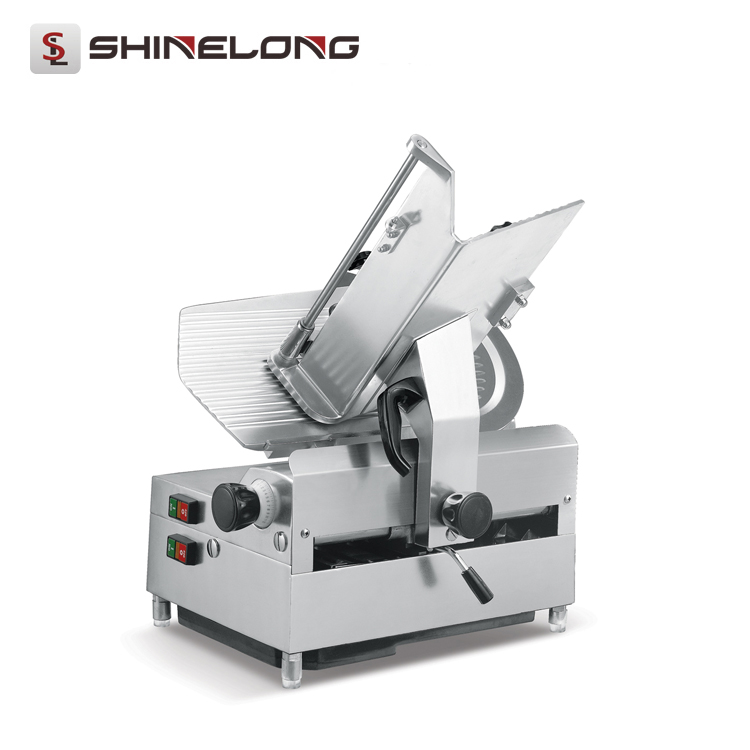 High Efficiency Kitchen Commercial Full Automatic Industrial  Electric Frozen Meat Slicer