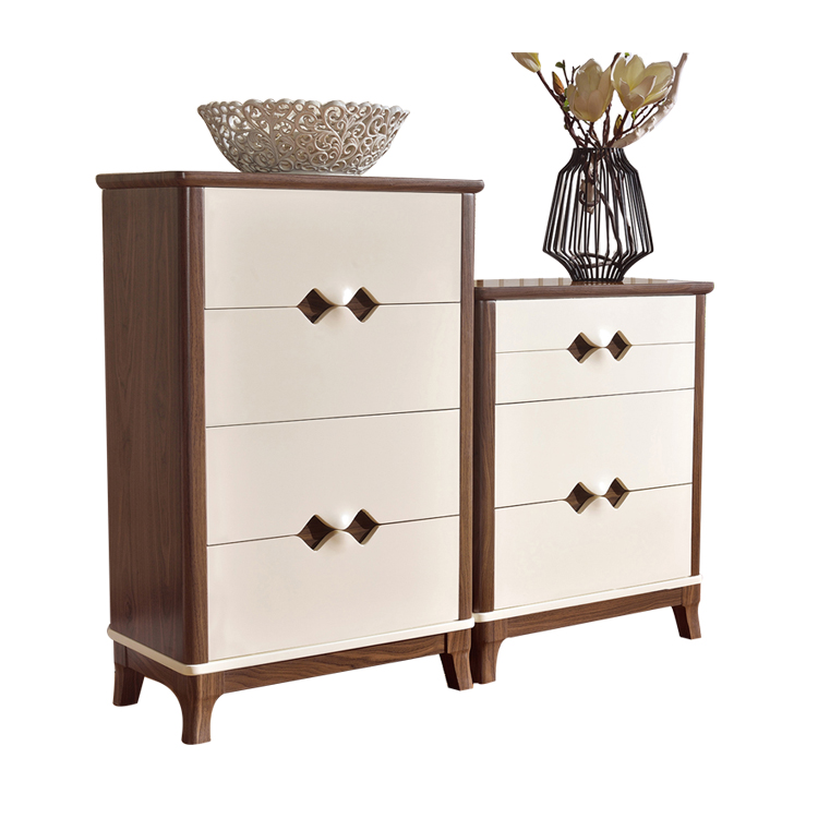 Modern Wholesale HDF Maple-Pine 4 Drawer 3 Drawer Furniture Cabinet