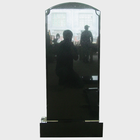 Wholesale Cemetery Usage Russian Style Polished Imperial Black Granite Upright Monument