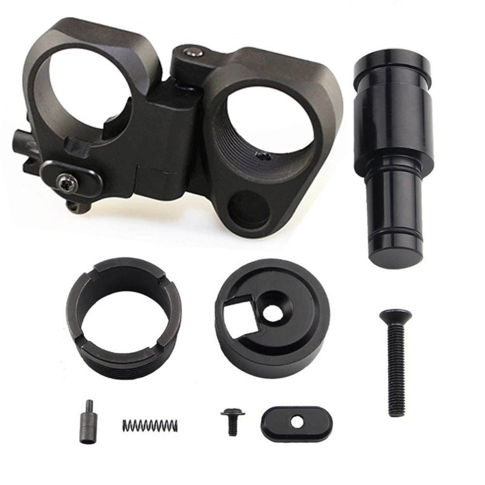 AR15 parts New AR Folding Stock Adapter for M16 M4 SR25 Airsoft Series GBB and AEG, Black/sand