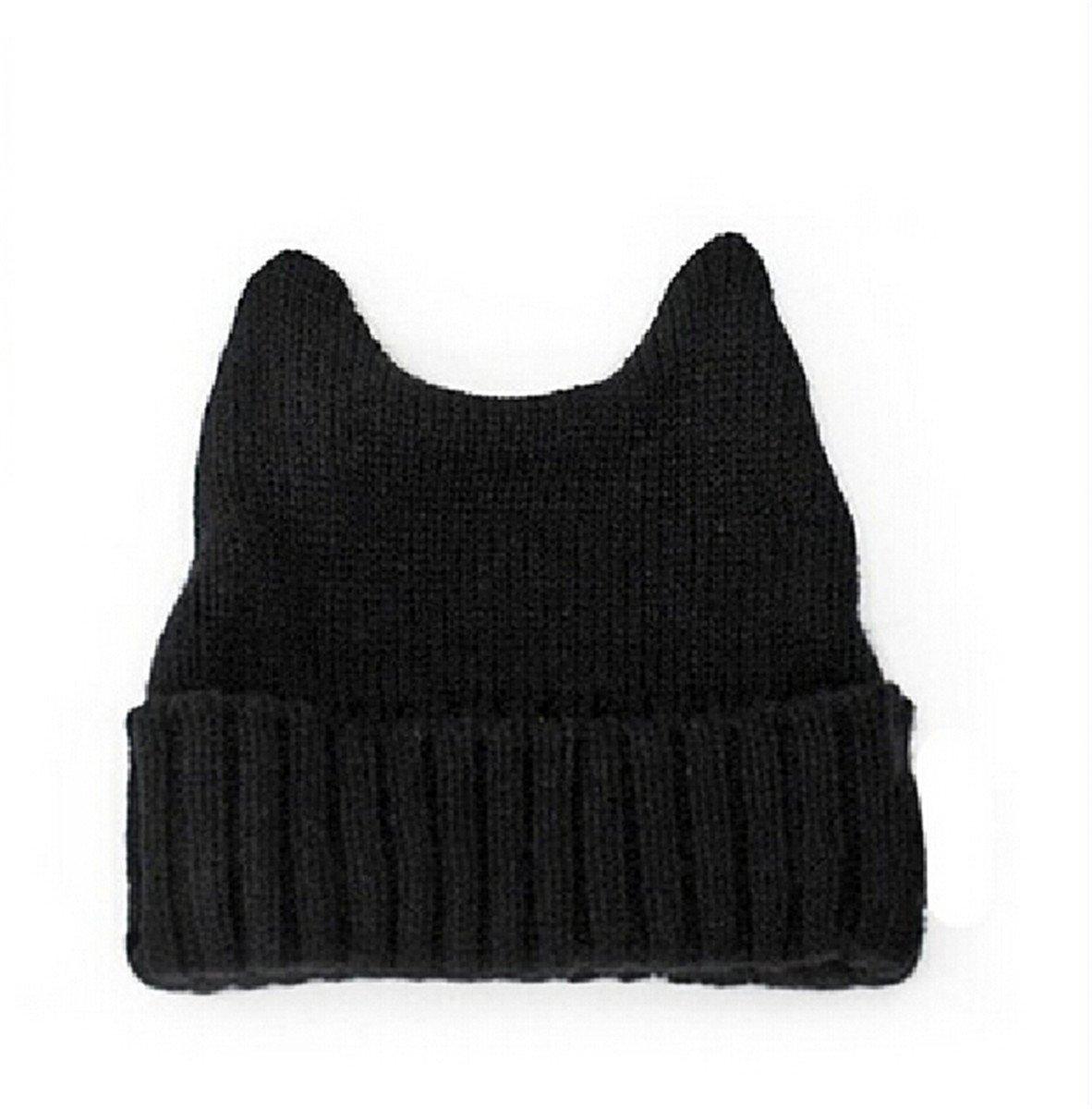 77d9633462bb5d Get Quotations · Dealzip Inc Stylish Unisex Winter Warm Wool Crochet Knitted  Hat Cap Cute Cat Ears Design