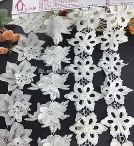 Good Quality Garment Accessories Embroidery 3D Flower Lace trimming