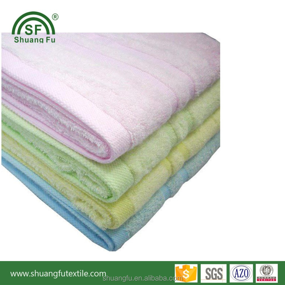 Softest Bamboo or cotton wholesale Happy baby wash cloth towel zero twist softtextile