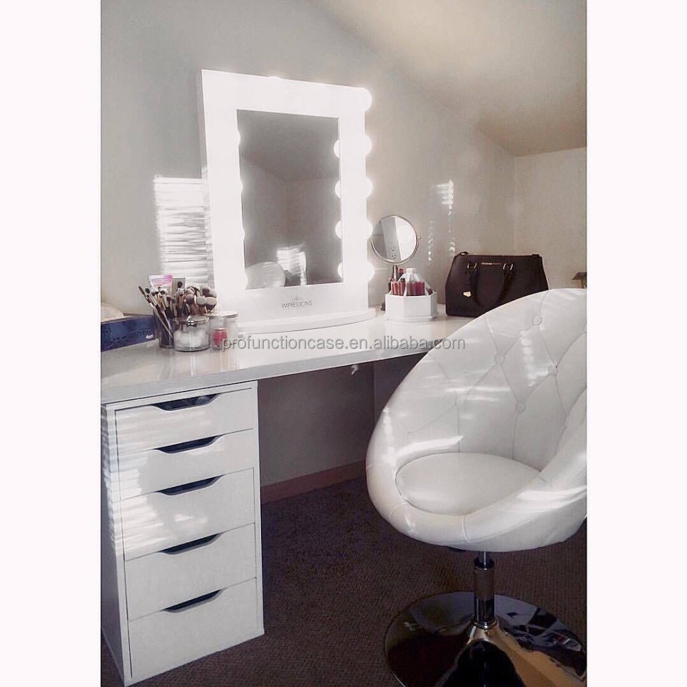 professionnel studio maquillage miroir avec led lumi res. Black Bedroom Furniture Sets. Home Design Ideas