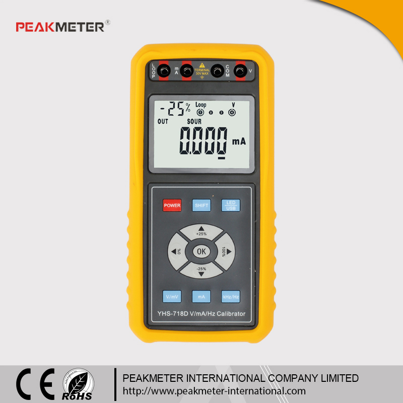 Handheld 4-20mA 0-10V Signal Generator with USB Interface /Rechargeable Battery