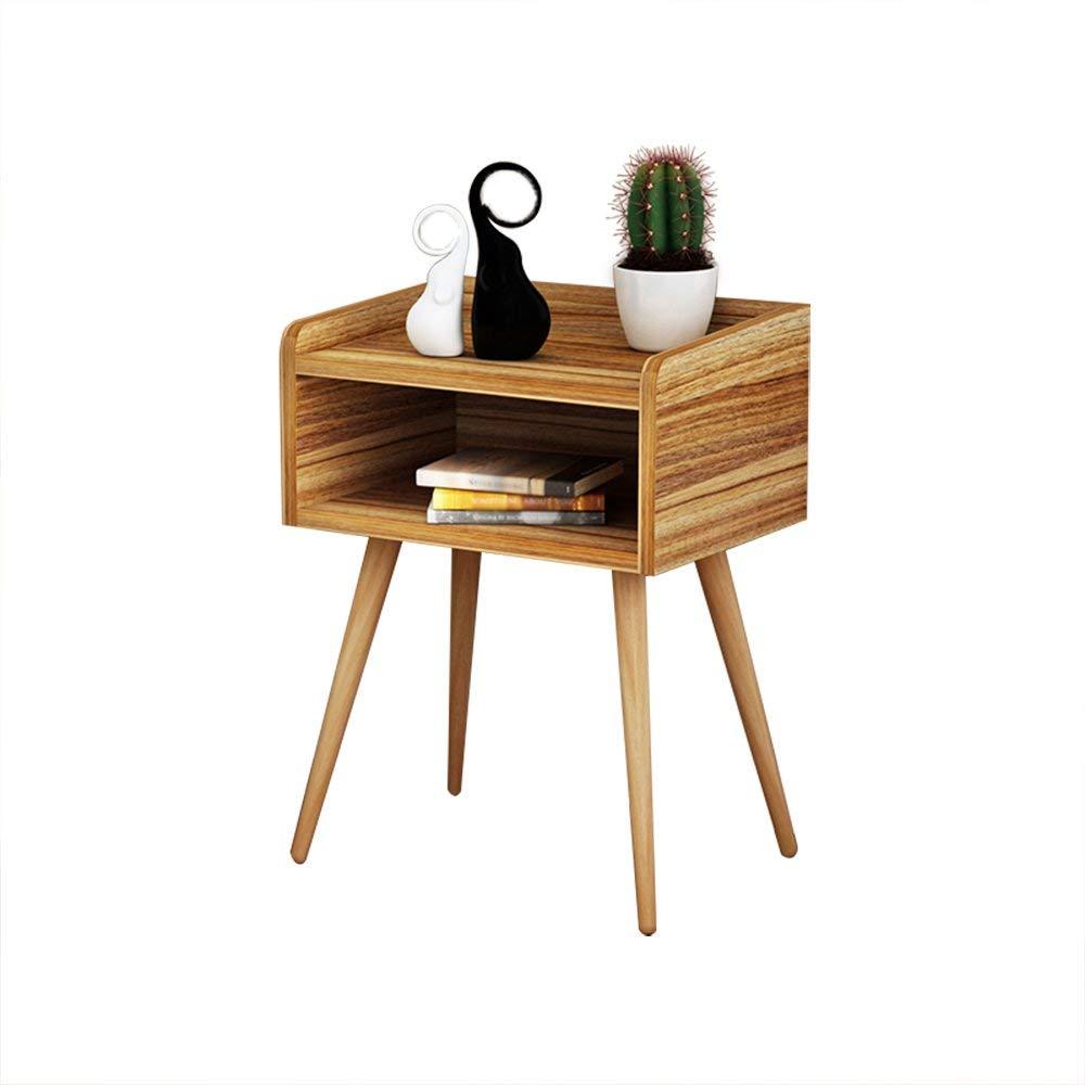 Emma Home Nightstand Solid Wood Legs Bedside Cabinet Side Bedside Table Drawer Cabinet Corner Cabinet Storage Cabinet (Color : K)
