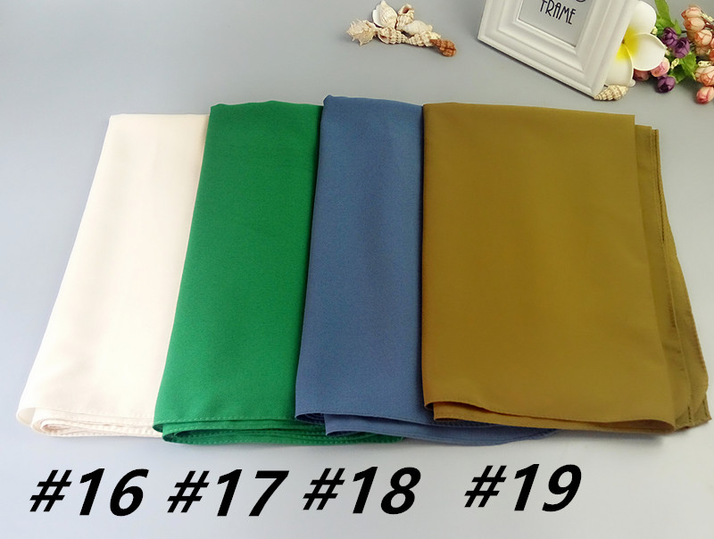 c30600298593 K187 heavy plain bubble chiffon High quality wrap hijab Shawl popular  muslim scarf scarves 180 75cm - us248