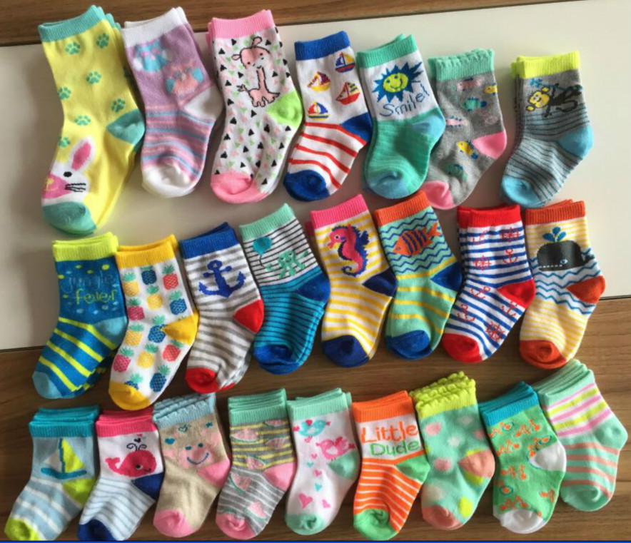 Baby flat socks Custom Logo Cotton baby kids socks