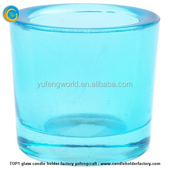 Wholesale good quality geo cut glass candle jar