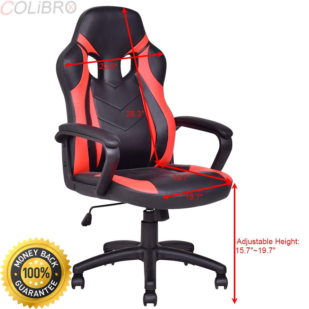 COLIBROX--High Back Executive Race Gaming Chair PU Leather Computer Desk Task Office Chair. best gaming chair. race gaming chair high back desk chair.ergonomic pu leather high back office chair.
