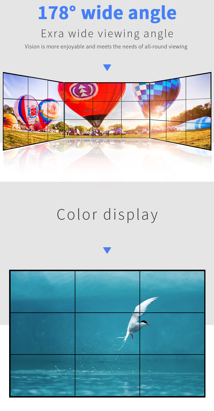 कार्यक्षेत्र अल्ट्रा संकीर्ण bezel 46 इंच स्क्रीन कीमत skyworth smd soporte सहज एलसीडी वीडियो दीवार