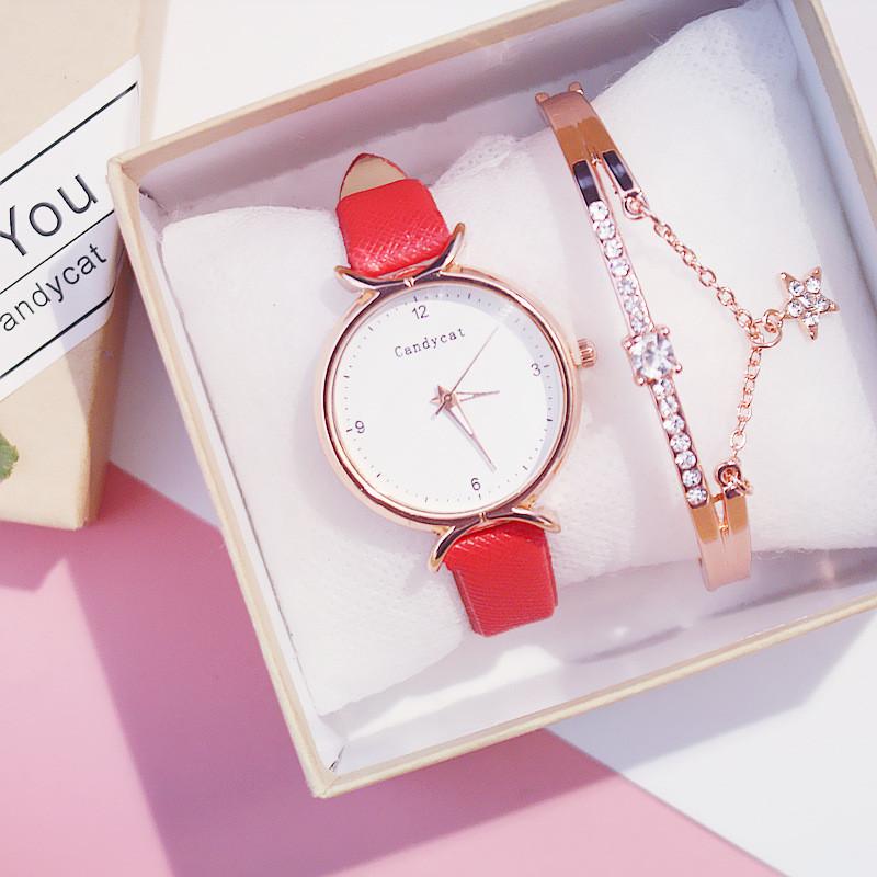 Ladies Watch 2019 New Casual Fashion Quartz Watch Multicolor Leather Wristwatch Simple Designer Women Clock