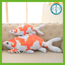 New design lovely plush stuffed goldfish cushion for gifts