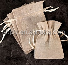 "Burlap Jute Sacks Bag 5.5 X 7.5""With Drawstrings Gunny Feed Tow Gift jute Bag"