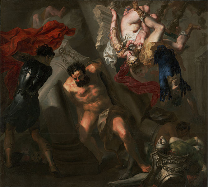 Canvas Art Prints Fabric Wall <font><b>Decor</b></font> Giclee Oil Painting Unknown Maker <font><b>Italian</b></font> Probably Genoese School - Death Of Samson