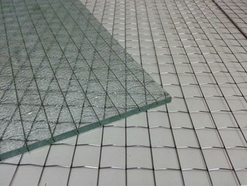 Decorative Wire Mesh Glass For Living Room Glass Wall - Buy Wire ...
