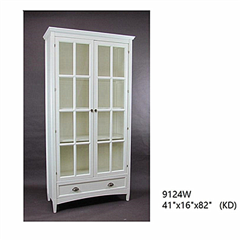 China manufacturer book display cabinet bookcase with glass door and drawers