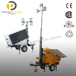 green power trailer type mobile solar led tower light