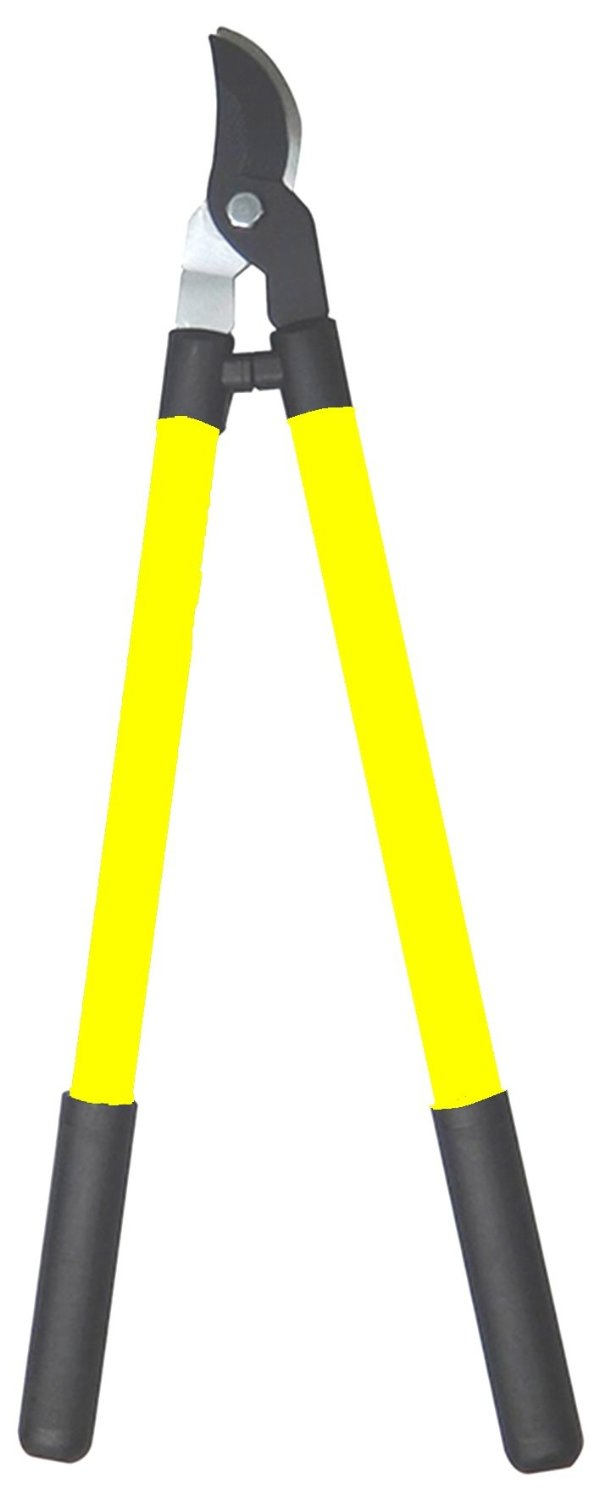 COLOURWAVE Bypass Loppers with Steel Handles, 28-Inch, Yellow