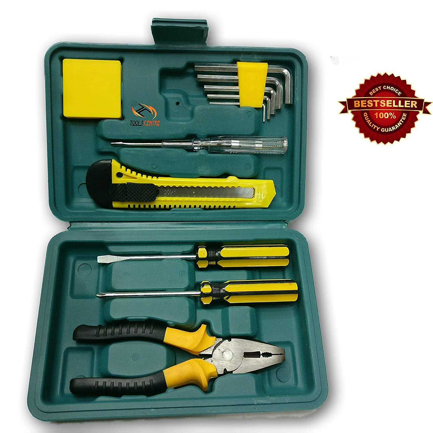 Tools Centre 11pcs Emergency Toolkit/Toolset for Professional & Home Purposes Maintenence Auto car