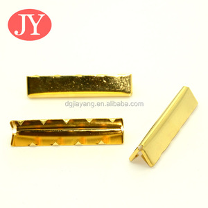 Web belt Durable Brass Gold color metal belt tips