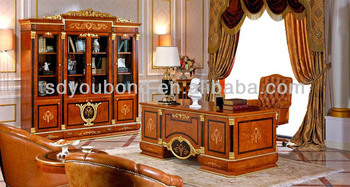 0038 Luxury Office Table Design High Quality Elegant Furniture