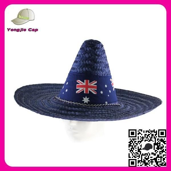 Diseño al por mayor de su propio partido sombreros sombrero mexicano  sombrero de paja de ala 516456d703c