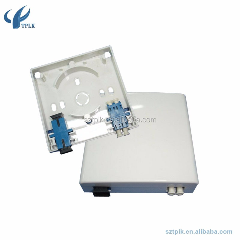 2 Port Face Plate/FTTH Terminal Box/86 type ABS PC indoor FTTH SC fiber optic face plate,fiber mini terminal box