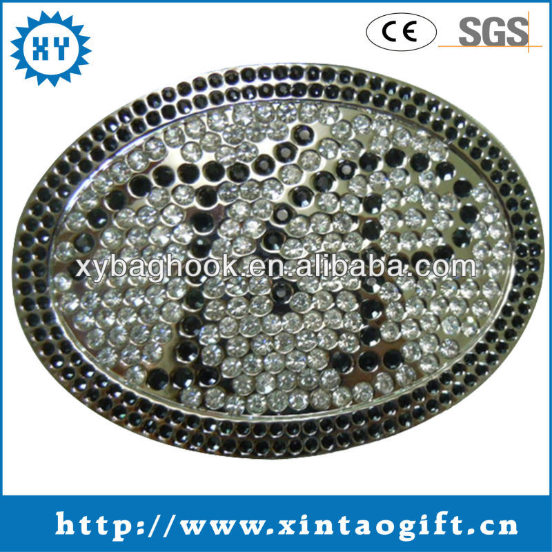 Top design metal rhinestone belt buckle