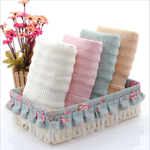 Cheap high quality ribbed bamboo towel sets softtextile