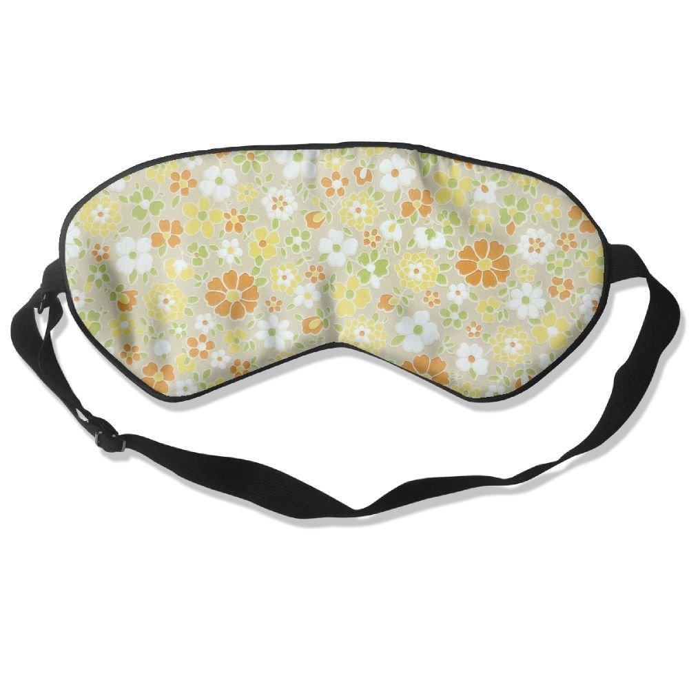 Madge Kelley Eye Mask Adjustable-Strap Eyeshade Sleeping Mask Skin-Friendly Sunflowers Pattern Blindfold Night Sleep Travel