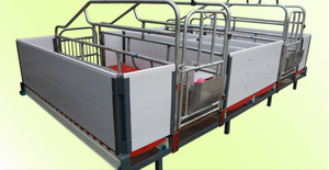 Pig/sow /piglet/piggery PVC farrowing crate/ Gestation/stall/pen with PVC panel(PVC Crate-12)