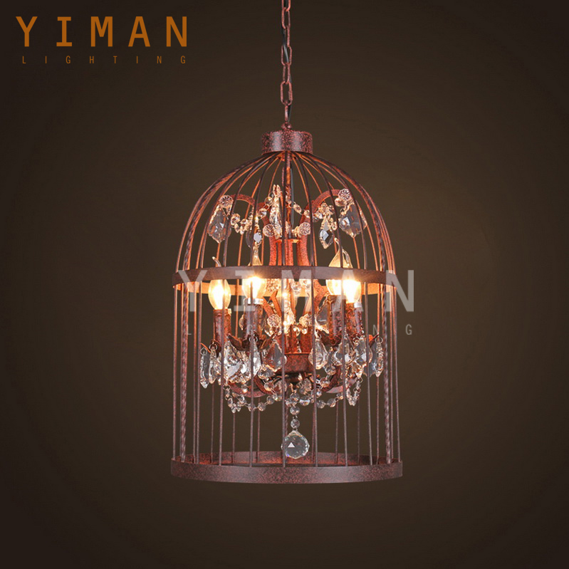 2017 New designe clear iron chandelier with small lamp