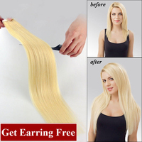 wholesale customized 100% remy european blonde tape human hair ombre seamless tape hair extensions