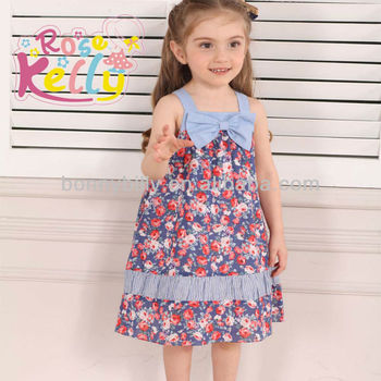 Multi Printed 2 Year Old Girl Dress Baby Dress Pictures Dress Baby